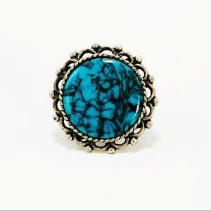 Jewelry - Vintage Inspired Turquoise Ring Size 5
